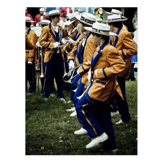 High School Brass Bands in Mardi Gras Postcard