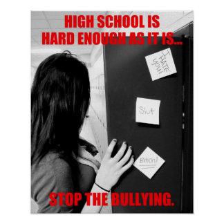High School Bullying Poster