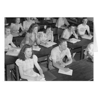 High School Class, 1943 Card
