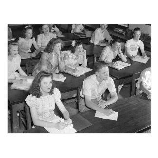 High School Class, 1943 Postcard