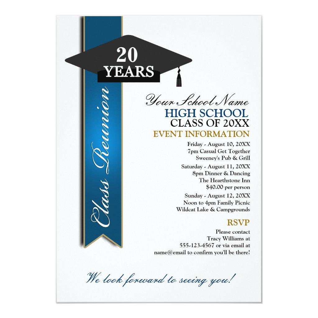 High School Class Reunion Invitation