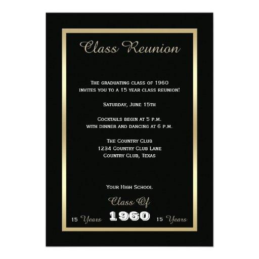 High School Class Reunion Invite - Any Year Invite