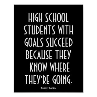 High School Classroom Poster in Black