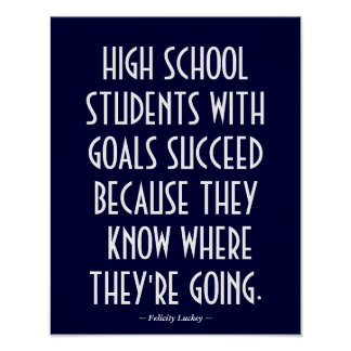 High School Classroom Poster in Blue