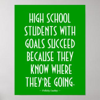 High School Classroom Poster in Green