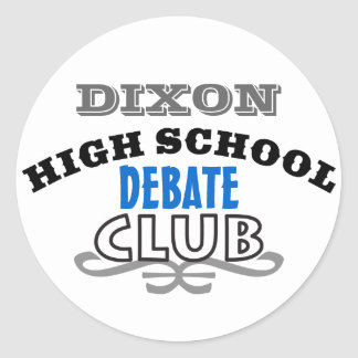 High School Club - Debate Classic Round Sticker