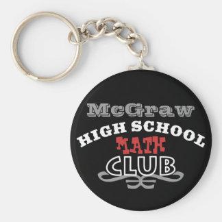 High School Club - Math Basic Round Button Keychain