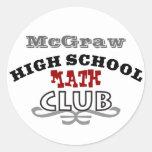 High School Club - Math Classic Round Sticker