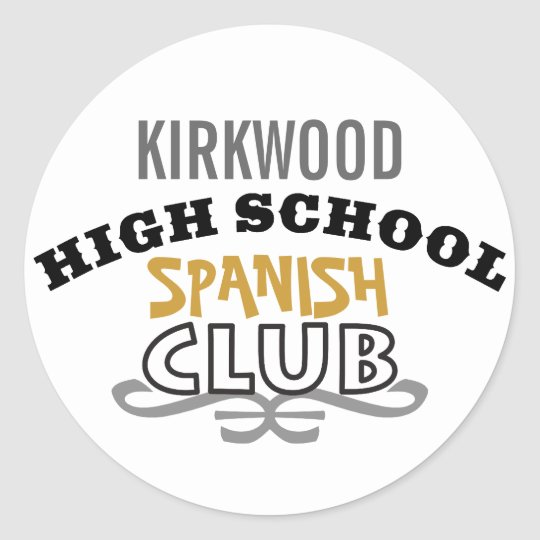 High School Club - Spanish Classic Round Sticker