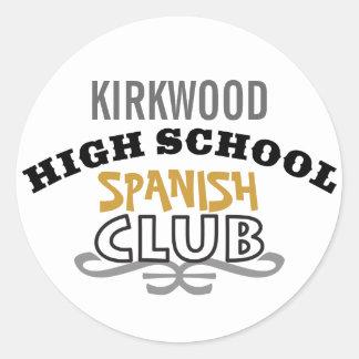 High School Club - Spanish Classic Round Sticker