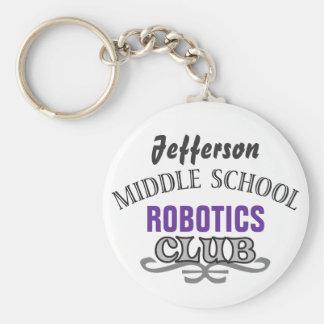 High School Club - Varsity Basic Round Button Keychain
