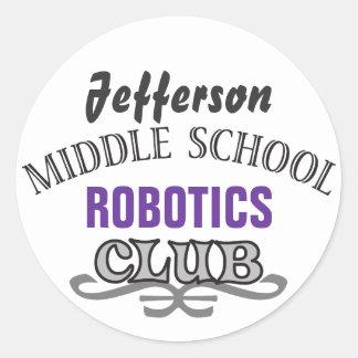 High School Club - Varsity Classic Round Sticker