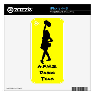 High School dance team gear Decal For The iPhone 4S