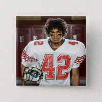 High School football player Button