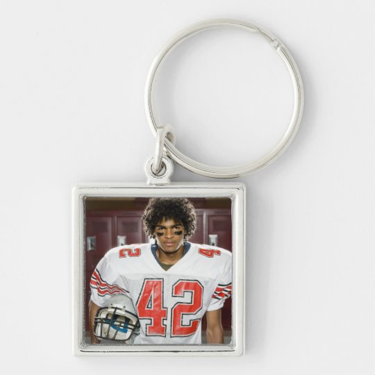 High School football player Keychain