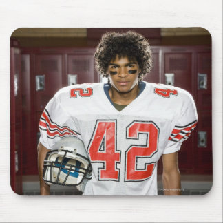 High School football player Mouse Pad