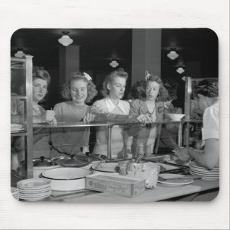High School Girls, 1940s Mouse Pad