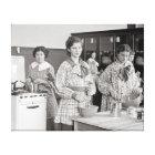 High School Girls Cooking, 1935 Canvas Print