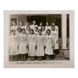 High School Girls Glee Club, Kilgore, Texas 1931 Posters