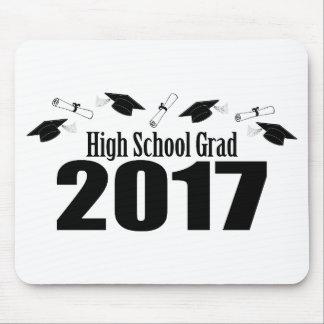 High School Grad 2017 Caps And Diplomas (Black) Mouse Pad