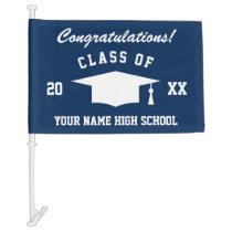 High School Graduation Class of 2020 custom text Car Flag