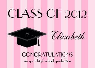 High school graduation cards zazzle high school graduation greeting card pink m4hsunfo