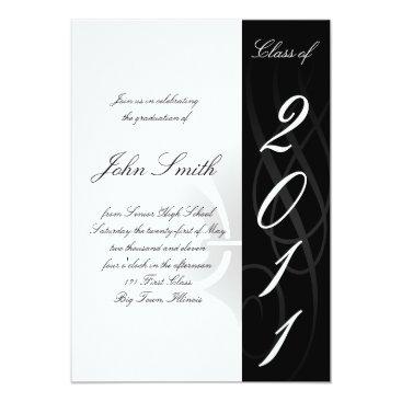 Christmas Themed High School Graduation Invitaion Card