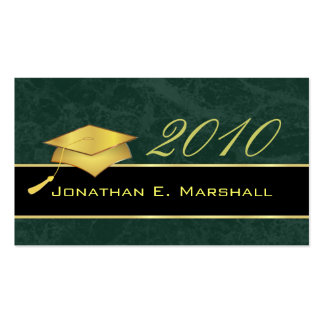 High School Graduation Name Cards - 2010 Business Card Templates