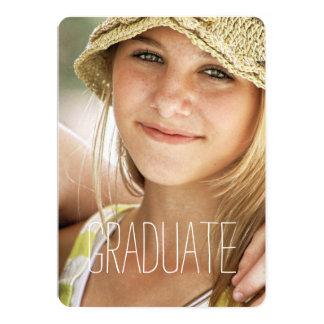 High School Graduation Party Modern Photo Graduate 5x7 Paper Invitation Card