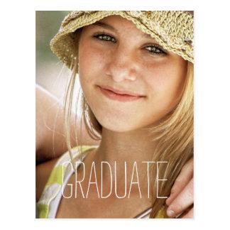 High School Graduation Party Modern Photo Graduate Postcard