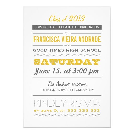 High School Graduation Party Invitation Templates was great invitation ideas