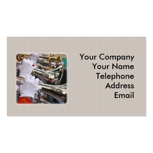 High School Marching Band Business Card