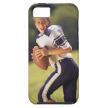 High school quarterback with football iPhone 5 cases