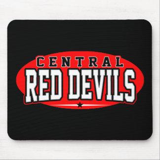 High School secundaria central; Diablos rojos Alfombrillas De Ratón