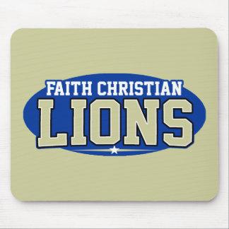 High School secundaria cristiana de la fe; Leones Alfombrilla De Ratones
