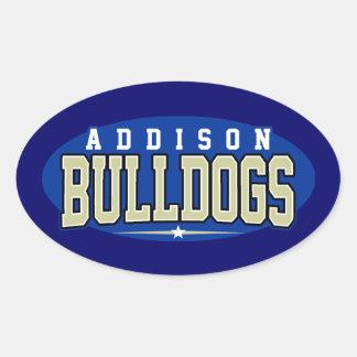 High School secundaria de Addison; Dogos Colcomanias Ovaladas Personalizadas