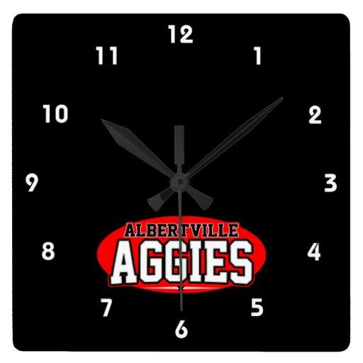 High School secundaria de Albertville; Aggies Reloj De Pared