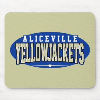 High School secundaria de Aliceville; Yellowjacket Tapetes De Ratón