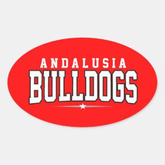 High School secundaria de Andalucía; Dogos Pegatinas Ovales