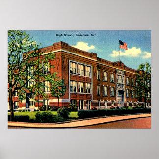 High School secundaria de Anderson, Indiana Poster