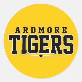 High School secundaria de Ardmore; Tigres Pegatinas Redondas