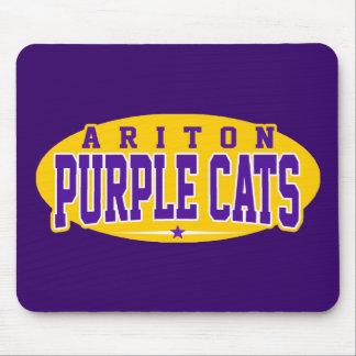 High School secundaria de Ariton; Gatos púrpuras Alfombrillas De Ratón