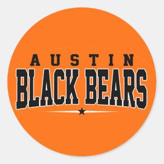 High School secundaria de Austin; Osos negros Etiquetas Redondas