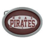 High School secundaria de Boaz; Piratas Hebilla De Cinturon Oval