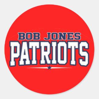 High School secundaria de Bob Jones Patriotas Etiqueta