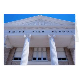 High School secundaria de Boise Tarjeta De Felicitación