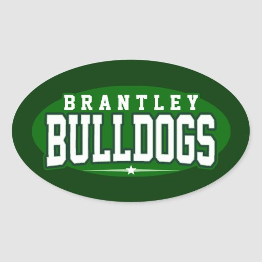 High School secundaria de Brantley; Dogos Pegatina Ovalada