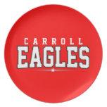 High School secundaria de Carroll; Eagles Plato De Comida