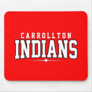 High School secundaria de Carrollton; Indios Tapete De Ratón