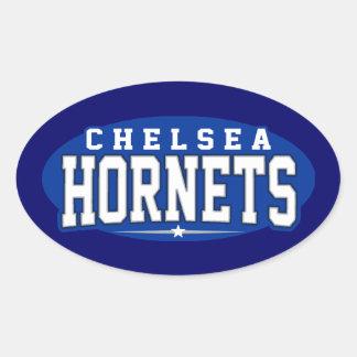 High School secundaria de Chelsea; Avispones Pegatina Ovalada